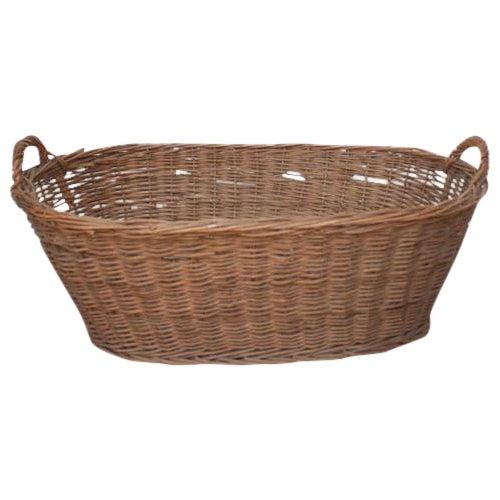 Oval Vintage French Laundry Basket - Image 1 of 8