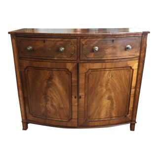 Late 19th Century Antique English Burled Satinwood and Walnut Cabinet For Sale
