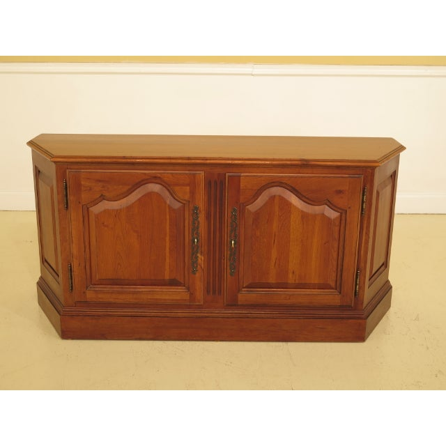 Ethan Allen 2 Door Cherry Media Cabinet Console For Sale - Image 13 of 13