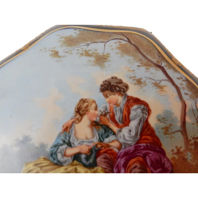 19th-C French Porcelain Dresser Box - Image 3 of 10