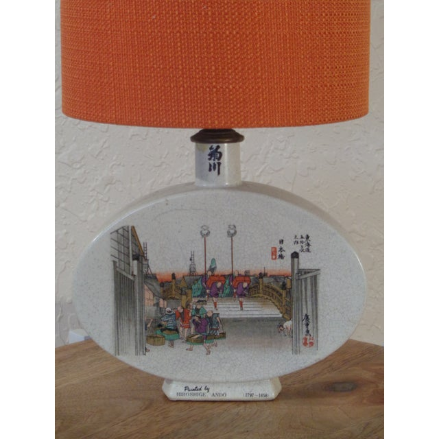 A Ando Hiroshige table lamp. He was best known for landscapes. Also the subjects of his his work were atypical of the...