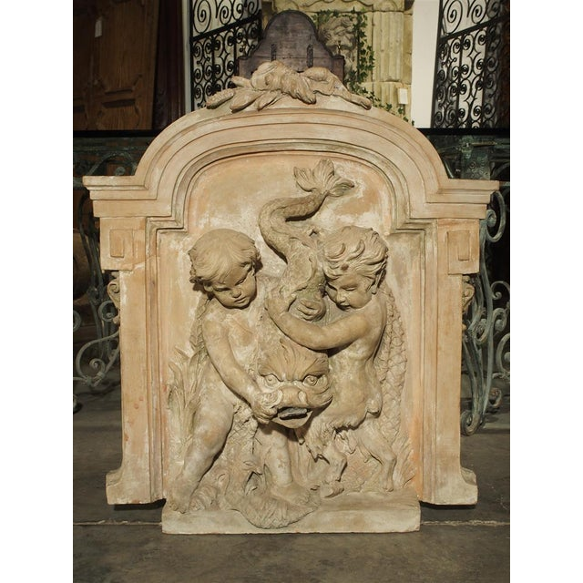 Antique French Terra Cotta Fountain Back, Circa 1860 For Sale - Image 13 of 13