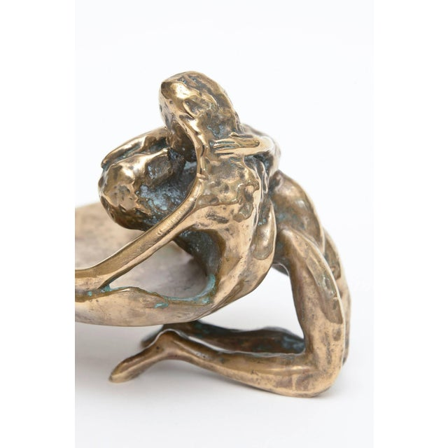 Bronze Sensual and Erotic Lovers Embrace Sculpture - Image 3 of 10