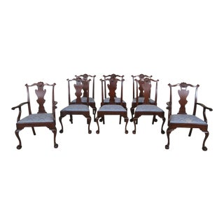Set of 8 Henkel Harris Model #102 Claw Foot Dining Room Chairs For Sale