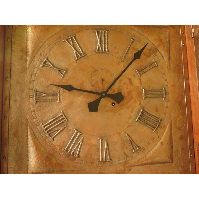 Stickley Monumental Mission Oak Grandfather Clock For Sale In Philadelphia - Image 6 of 11