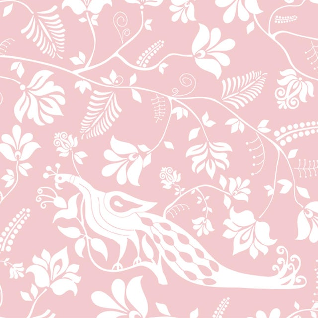 House of Harris Windwood Wallpaper, 30 Yards, Blush For Sale - Image 4 of 4