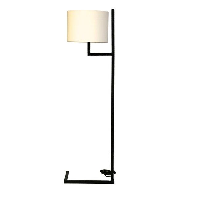 Modern Powder Coated Black Metal Floor Lamp - Image 3 of 3