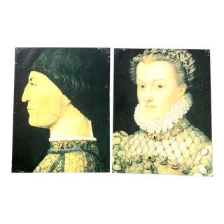 Overscale Renaissance Process Paintings - A Pair