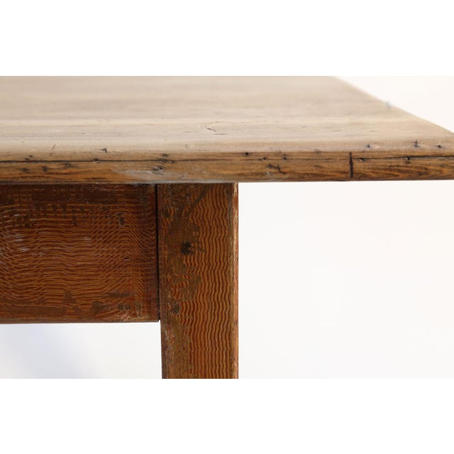 Folk Art Faux-Grain Painted French Farm Table For Sale - Image 3 of 13