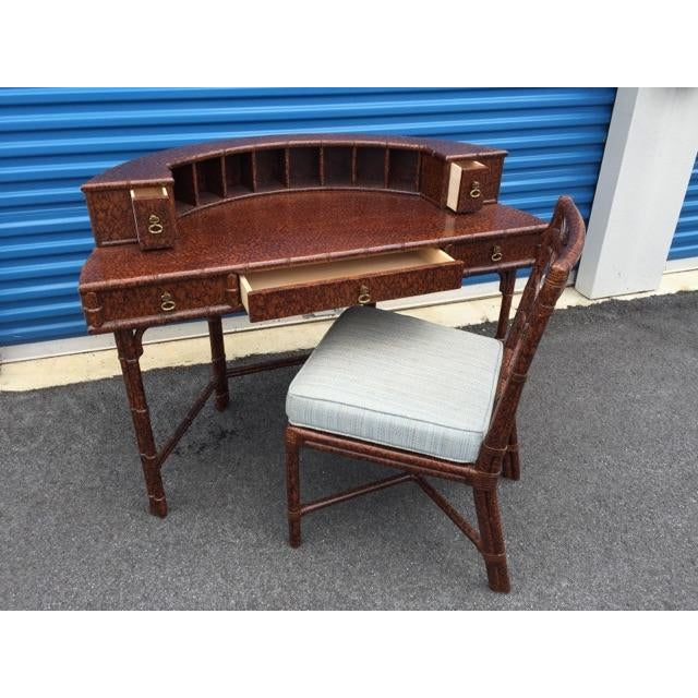 Ficks Reed Demilune Writing Desk - Image 6 of 8