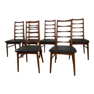 Mid Century Modern Teak Hornslet Niels Koefoed Lis Dining Chairs - Set of 6 For Sale