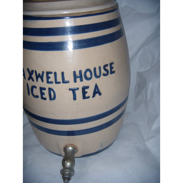 Old Maxwell House Iced Tea Ceramic Dispenser - Image 6 of 10