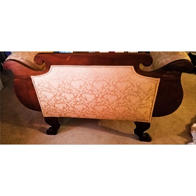 Empire 19th Century Empire Mahogany Settee For Sale - Image 3 of 12