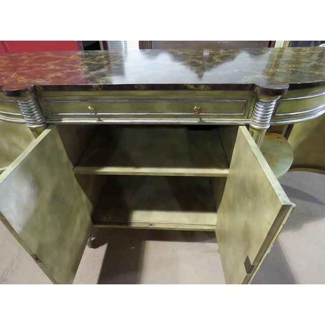Maitland Smith Faux Marble Top Commode For Sale - Image 11 of 13