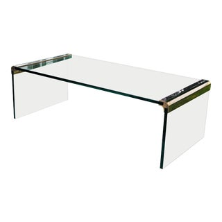 1972 Vintage Leon Rosen for Pace Collection Waterfall Coffee Table For Sale