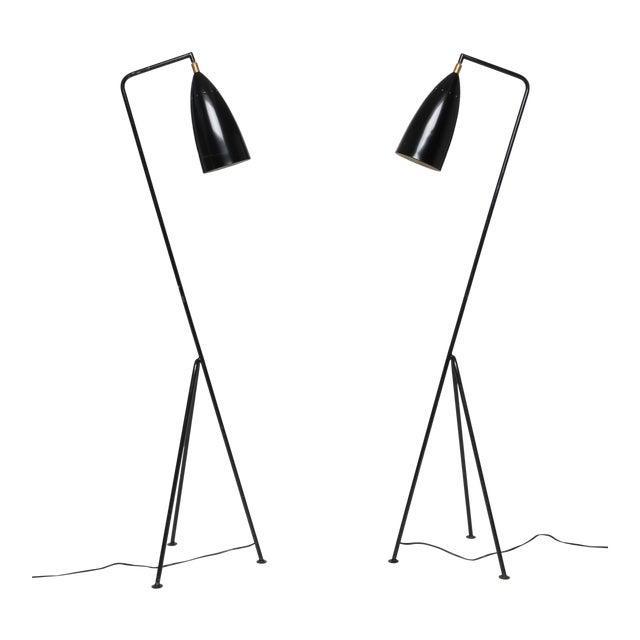 Pair of Mid-Century 'Grasshopper' Floor Lamps in the Manner of Greta Grossman - Price Per Lamp For Sale