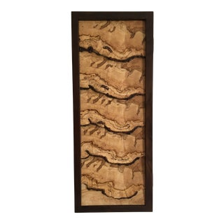 Organic Modern Storm Clouds Maple Cupboard For Sale