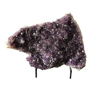 Large Amethyst Geode with Metal Stand For Sale