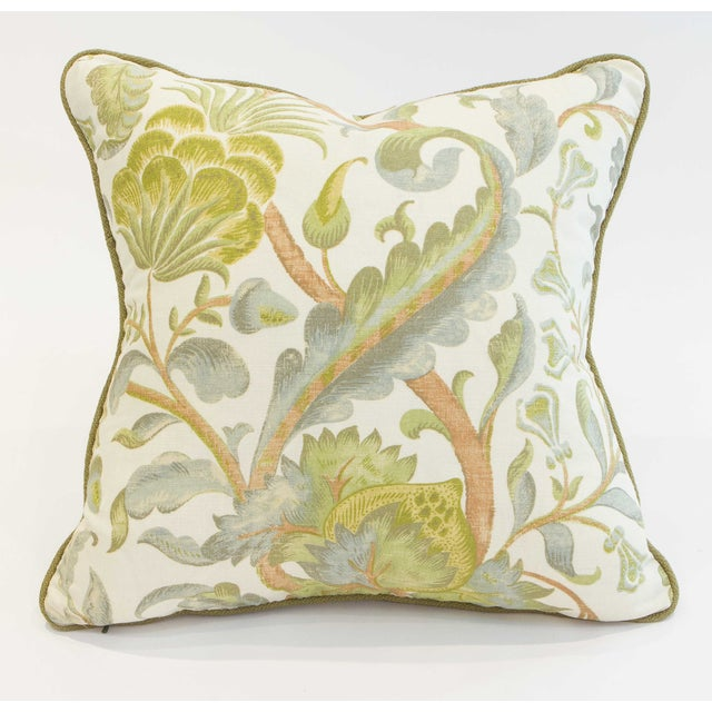 Floral Duck Egg Pillows - a Pair For Sale In Seattle - Image 6 of 6