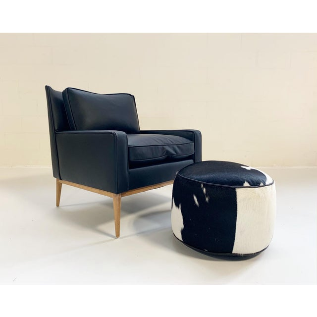 Mid-Century Modern Paul McCobb for Directional Model 302 Lounge Chair in Loro Piana Bufalo Leather For Sale - Image 3 of 9