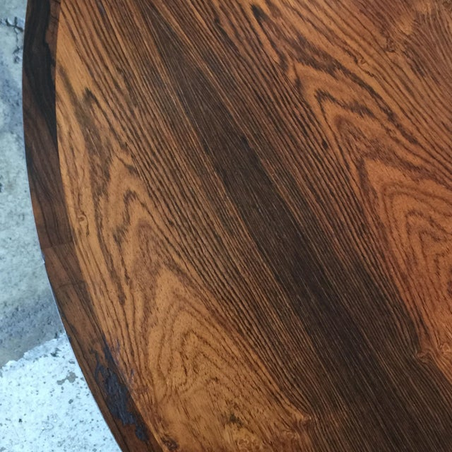 1960s Impeccable Hans C. Andersen Danish Rosewood Round Coffee Table For Sale - Image 5 of 8