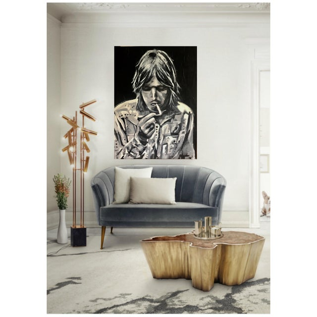 The black and white paint captures this portrait of Tom Petty in almost slow motion. It will amp up any room that needs a...