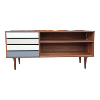Mid-Century Style Walnut Credenza For Sale