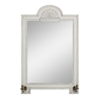 Vintage Gustavian Style Mirror With Candle Arms For Sale