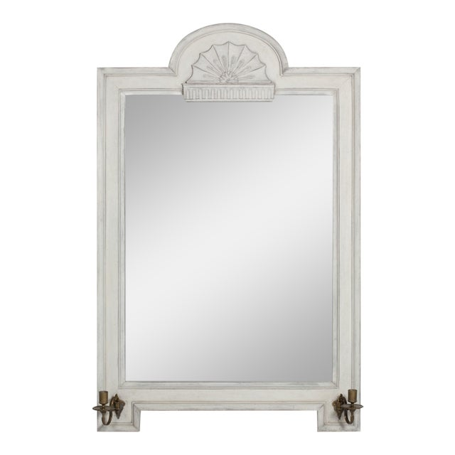 Vintage Gustavian Style Mirror With Candle Arms - Image 1 of 6