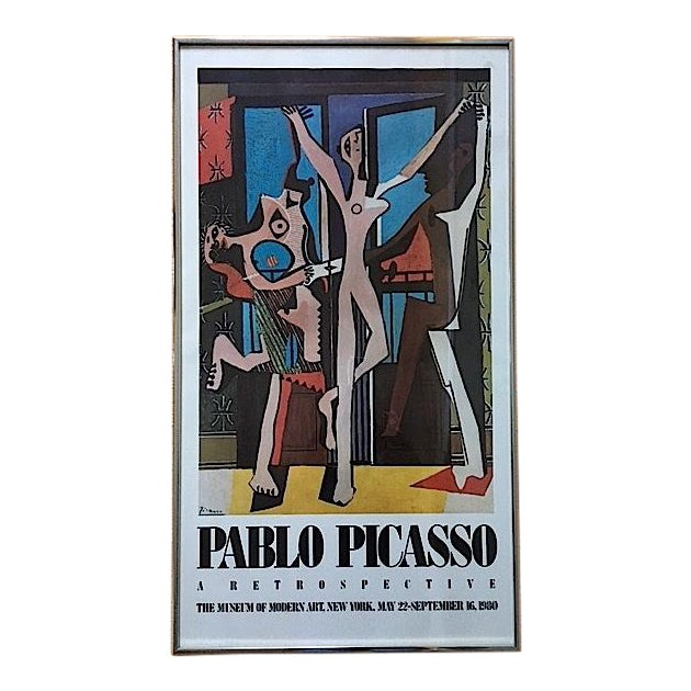 Vintage Picasso Exhibition Poster - Three Dancers - Image 1 of 6