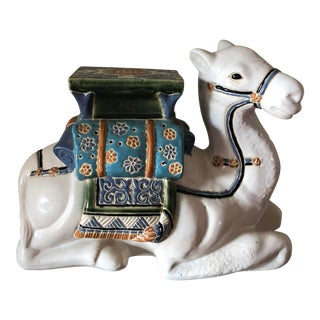 Traditional Ceramic Camel Garden Stool For Sale