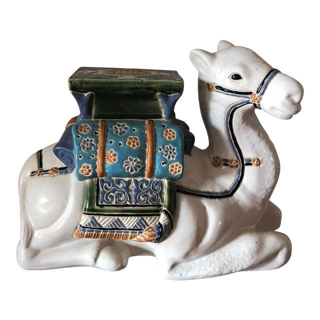 Traditional Ceramic Camel Garden Stool For Sale