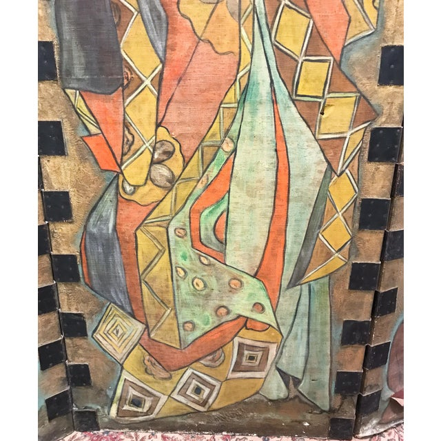 Early 20th Century Antique Art Deco Asian Screen For Sale - Image 5 of 11