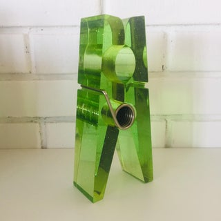 Lime Green Giant Lucite Clothespin Preview