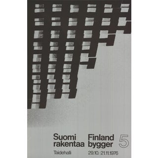 Finland Is Building, Serigraph, 1976 For Sale