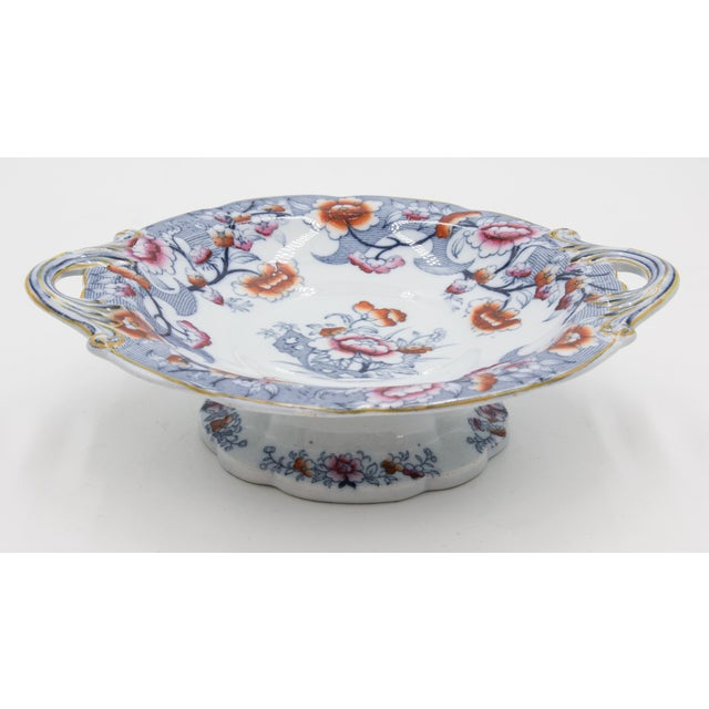 Chinoiserie 19th Century English Imari Porcelain Compote For Sale - Image 3 of 9