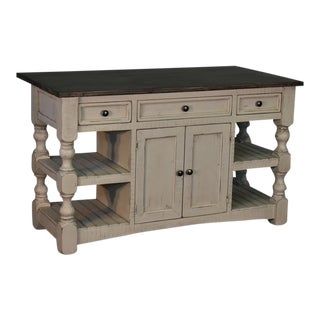 Crafters and Weavers Stonegate Kitchen Island For Sale