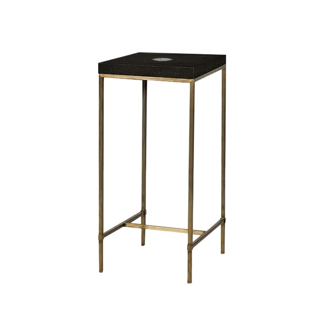 Genuine Shagreen Accent Table For Sale
