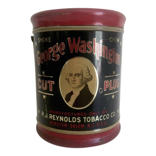 """George Washington Cut Plug R.J. Reynolds"" Tobacco Tin For Sale"