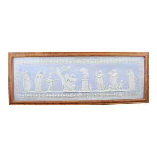 Wedgwood Blue Jasperware Framed Fireplace Tile For Sale
