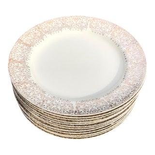 Antique Floral Porcelain Side Plates - Set of 12