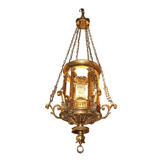 Antique Chandelier. Lantern Chandelier, circa 1900 For Sale