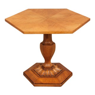 1960s Traditional Style Exotic Sculpted Center Table For Sale
