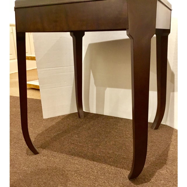 Modern Hickory Chair Modern Wabi Wood Side Table For Sale - Image 3 of 5