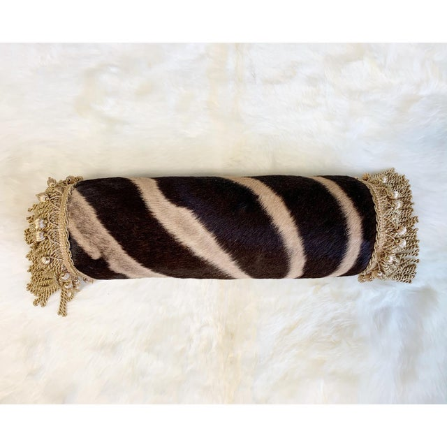 """One of a Kind Zebra Pillow, 24.5"""" For Sale In Saint Louis - Image 6 of 6"""