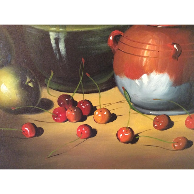 1960s Mid-Century Frank Lean Still Life in Oil For Sale - Image 5 of 13
