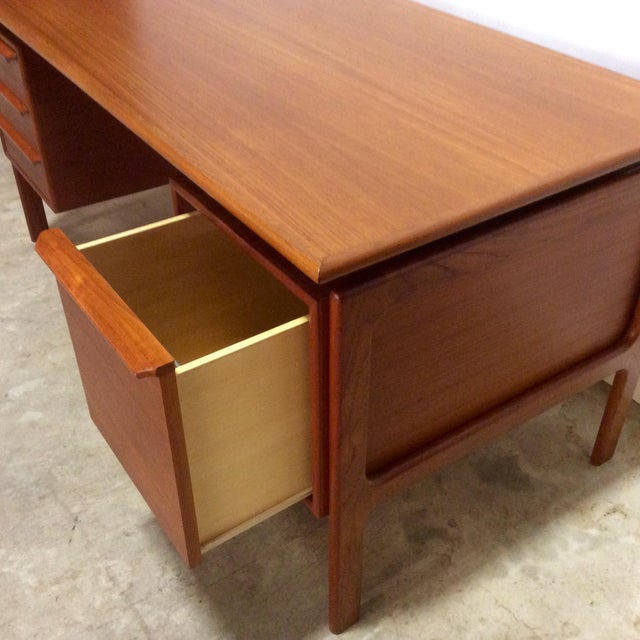 G. V. Gasvig Danish Modern Executive Teak Desk - Image 5 of 7