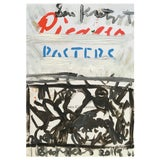 Image of Abstract 'Poster Poster' Framed Picasso Poster Painting by Sean Kratzert For Sale