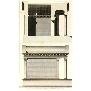 Temple D'Esculape, C. 1790, Engraving For Sale