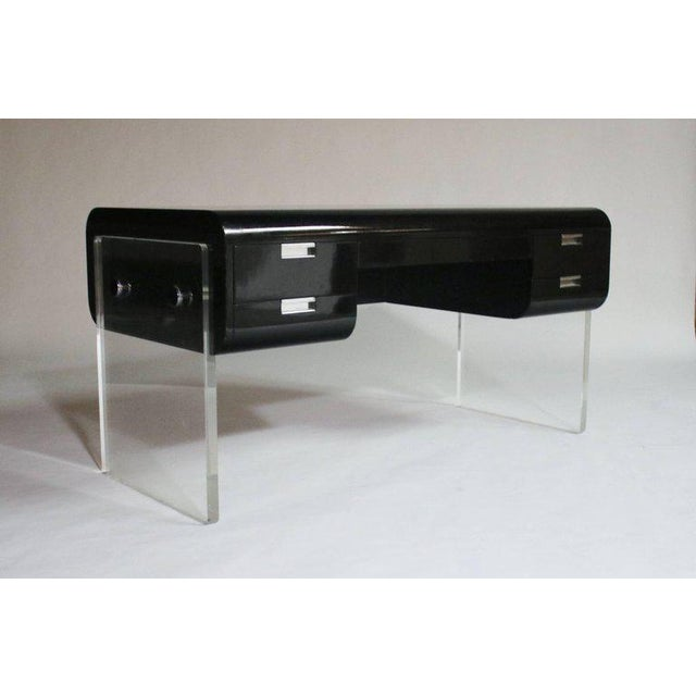 Pace Floating Desk on Lucite Frame For Sale - Image 10 of 10